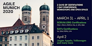 AGILE MUNICH 2020 | March 31 - April 2 |...