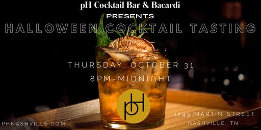 pH Cocktail Bar & Bacardi Presents Halloween Cocktail Tasting