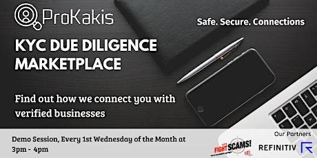 ProKakis KYC Due Diligence Marketplace tickets