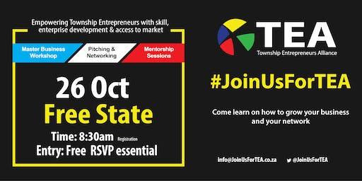#JoinUsForTEA  in Free State- 26 October  2019