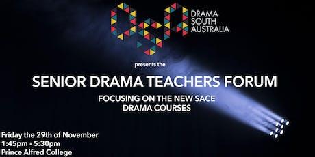 Senior Drama Teachers Forum: New Courses tickets
