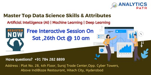 Data Science Informative Sessions, 26th Oct, 10 AM By Analytics Path
