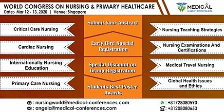 World Congress On Nursing & Primary Healthcare tickets
