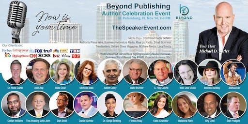 Beyond Publishing St. Pete FL Author Speaking Media Interview Event Nov 14