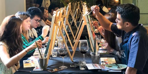 Night in Halloweentown Paint & Wine Workshop