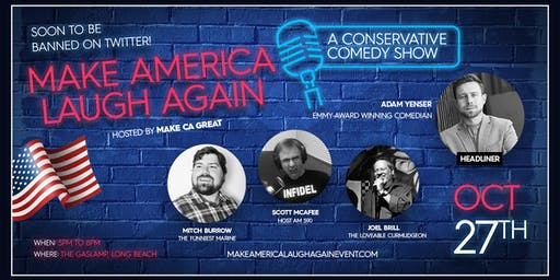 Make America Laugh Again - Dinner & Comedy Social Event