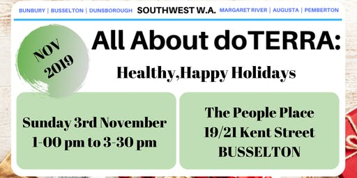 All About doTerra South West  - Healthy, Happy Holidays