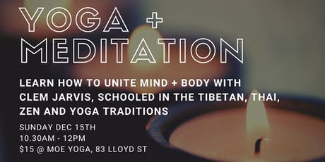 Meditation + Yoga with Clem Jarvis tickets