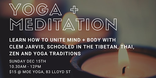 Meditation + Yoga with Clem Jarvis