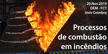 """Seminário """"Processos de Combustão em Incêndios"""" bilhetes"""