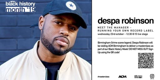 BLACK HISTORY MONTH: Despa Robinson - Management/Running Your Own Label