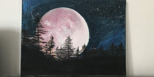 Arty paint party pink moon