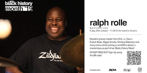 BLACK HISTORY MONTH: Ralph Rolle Drum & Sessions Musician Masterclass