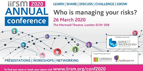 Who is managing your risks?  A one day conference tickets