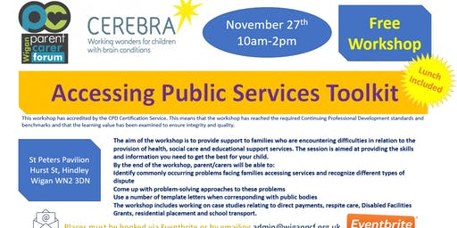 Cerebra Accessing Public Services Toolkit workshop