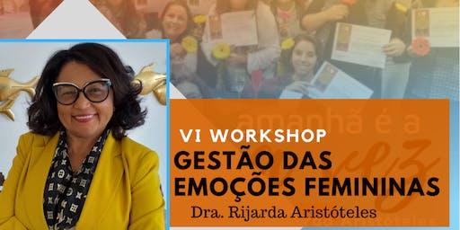 Workshop GESTÃO DAS EMOÇÕES FEMININAS