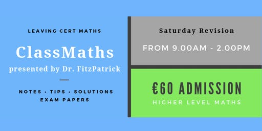 One day Intensive Leaving Cert Maths Revision