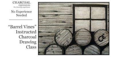 "Charcoal Drawing Event ""Barrel Vines"" in Verona"