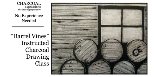 "Charcoal Drawing Event ""Barrel Vines"" in Verona"