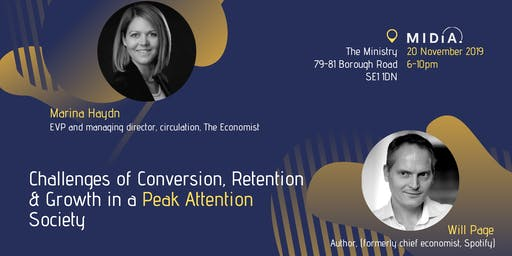 Challenges of Conversion Retention & Growth in a Peak Attention Society