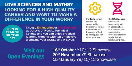 Open Evening at Derby Manufacturing UTC - 20th November 2019