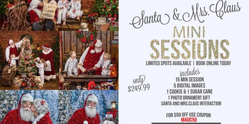 Portraits with Santa & Mrs Claus