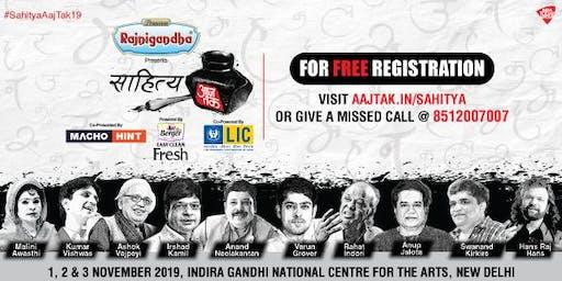 Sahitya Aaj Tak: India's biggest Hindi Literature fest