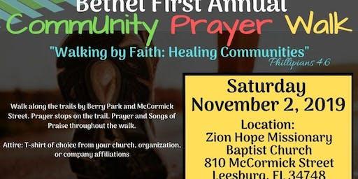 Bethel First Annual CommUnity Prayer Walk