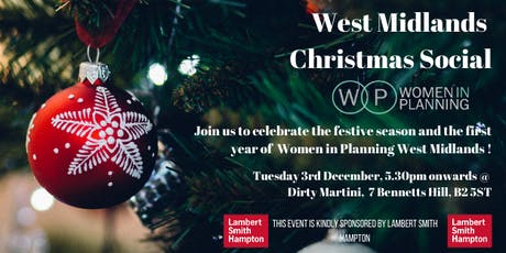 Women in Planning West Midlands Christmas Social tickets