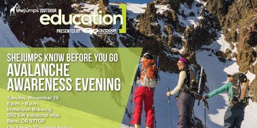 OR SheJumps Know Before You Go Avalanche Awareness Evening