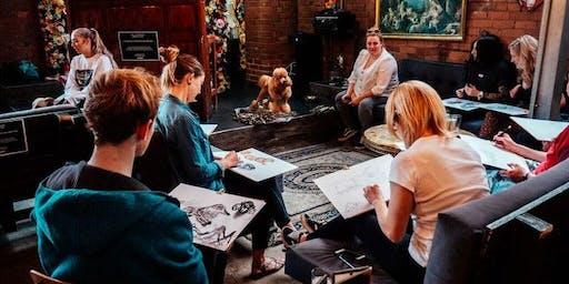 Dog Life Drawing - Church- Temple of Fun