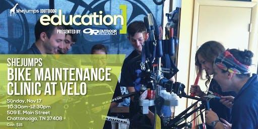 TN SheJumps Bike Maintenance Clinic at Velo