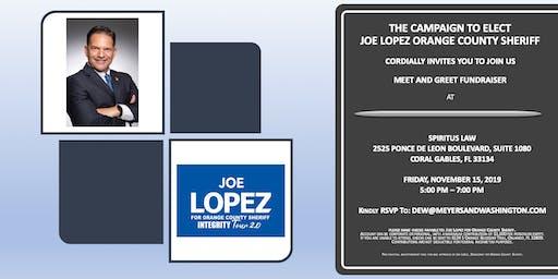 THE CAMPAIGN TO ELECT JOE LOPEZ O.C. SHERIFF, SPIRITUS LAW FUNRAISER