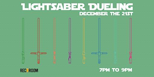 Lightsaber Dueling at Rec Room