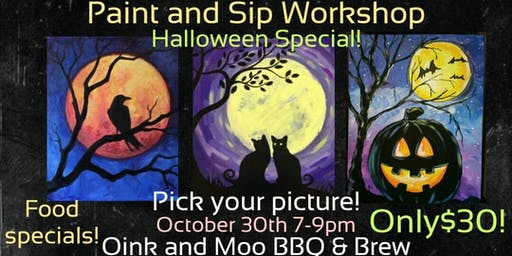 Paint and Sip Workshop Halloween Edition