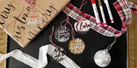 DIY Calligraphy Ornament Making tickets