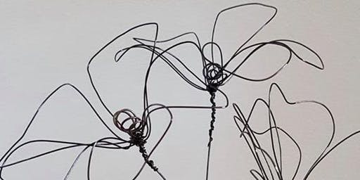 Create a wire flower arrangement