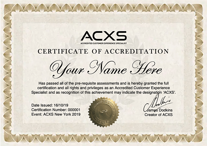 READING - Accredited Customer Experience Specialist (ACXS) image
