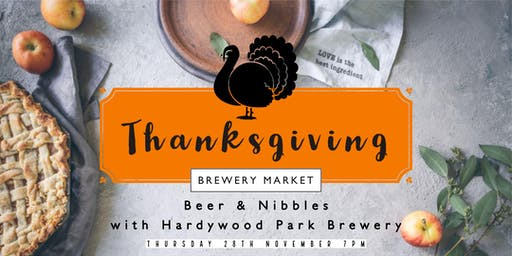 Thanksgiving Beer & Nibbles, with Hardywood Park Brewery