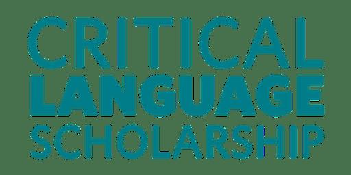 Critical Language Scholarship Grant Writing Workshop