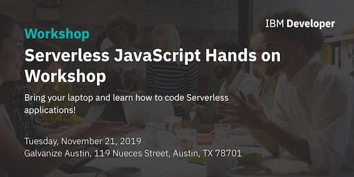 Serverless JavaScript Hands on Workshop