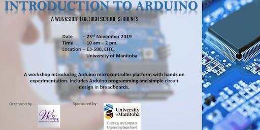 Arduino Workshop for Female High School Students