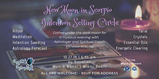 New Moon in Scorpio Intention Setting Circle