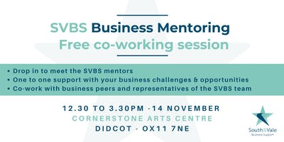 Co-working session with South & Vale Business Support Mentors