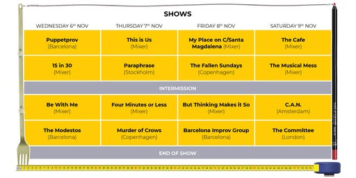 BIG IF 6 - Barcelona's International Improv Comedy and Theatre Festival Shows