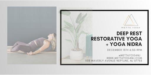 Deep Rest: Restorative Yoga + Yoga Nidra