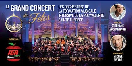 GRAND CONCERT DES FÊTES – Formation musicale de la Polyvalente Ste-Thérèse  billets