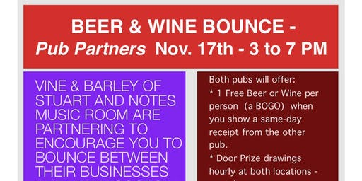 BEER & WINE BOUNCE - Pub Partners - Downtown Stuart