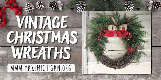 Vintage Christmas Wreaths - Kalamazoo