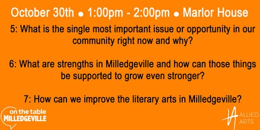 On the Table Milledgeville: Allied Arts (1PM)